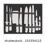 knife set | Shutterstock .eps vector #131554115