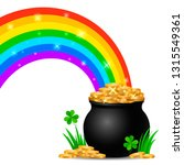 festive green banner or st.... | Shutterstock .eps vector #1315549361