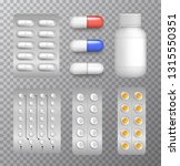 vector set of medical pills and ... | Shutterstock .eps vector #1315550351