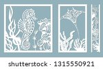 scate  starfish  seahorse  crab ... | Shutterstock .eps vector #1315550921