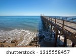 fishing pier and boat hoist at... | Shutterstock . vector #1315558457