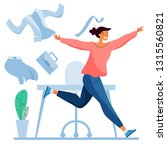 run from office to freedom.... | Shutterstock .eps vector #1315560821
