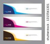 vector abstract web banner... | Shutterstock .eps vector #1315561301