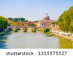 st.peter's basilica viewed... | Shutterstock . vector #1315575527