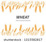 agriculture wheat background... | Shutterstock .eps vector #1315582817