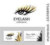 branding for salon eyelash...   Shutterstock .eps vector #1315584911