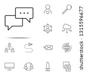 dialog icon. business icons...