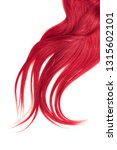 lush pink hair isolated on... | Shutterstock . vector #1315602101
