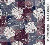 traditional stripes and leaves  ... | Shutterstock .eps vector #1315610084