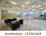 empty lobby at business center | Shutterstock . vector #131561669