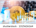 modern way of exchange. bitcoin ...   Shutterstock . vector #1315626164