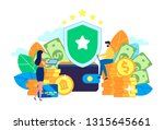 financial security  money... | Shutterstock .eps vector #1315645661