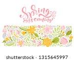 flower vector greeting card... | Shutterstock .eps vector #1315645997