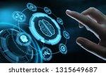 artificial intelligence machine ...   Shutterstock . vector #1315649687
