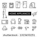 home appliances icons set. ... | Shutterstock .eps vector #1315653251