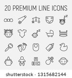 baby related vector icon set.... | Shutterstock .eps vector #1315682144
