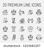 charity related vector icon set.... | Shutterstock .eps vector #1315682207