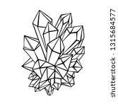 crystal  rock. vector... | Shutterstock .eps vector #1315684577