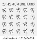 premium set of head thinking... | Shutterstock .eps vector #1315686614