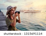 photography and travel. young... | Shutterstock . vector #1315691114