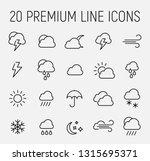 premium set of weather line... | Shutterstock .eps vector #1315695371