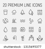 premium set of water line icons.... | Shutterstock .eps vector #1315695377
