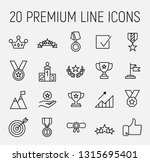 premium set of success line... | Shutterstock .eps vector #1315695401