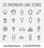 set of sweets icons in modern... | Shutterstock .eps vector #1315695404