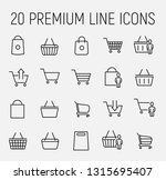 premium set of shopping basket... | Shutterstock .eps vector #1315695407