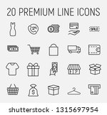set of shopping icons in modern ... | Shutterstock .eps vector #1315697954