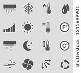 air conditioning icons. sticker ... | Shutterstock .eps vector #1315699901