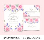 floral wedding invitation with... | Shutterstock .eps vector #1315700141