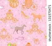 cinderella seamless pattern | Shutterstock .eps vector #131570471