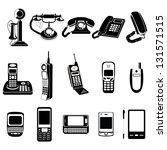 phone evolution vector icons   Shutterstock .eps vector #131571515