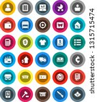 white solid icon set  laptop... | Shutterstock .eps vector #1315715474