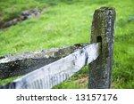 Old Corner Fence Post Along Th...