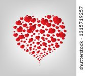red heart symbol | Shutterstock . vector #1315719257