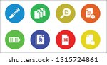 complete icon set. 8 filled...   Shutterstock .eps vector #1315724861