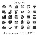 pay icon set. 30 filled pay... | Shutterstock .eps vector #1315724951