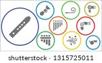 blow icon set. 9 filled blow... | Shutterstock .eps vector #1315725011