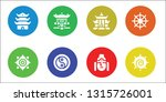 buddhism icon set. 8 filled... | Shutterstock .eps vector #1315726001