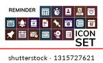 reminder icon set. 19 filled... | Shutterstock .eps vector #1315727621