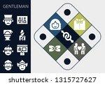 gentleman icon set. 13 filled...   Shutterstock .eps vector #1315727627