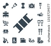 injury icon set. 17 filled... | Shutterstock .eps vector #1315729577