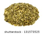 Shelled Pumpkin Seed Isolated...