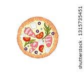 pizza. food cartoon. isolated... | Shutterstock .eps vector #1315735451