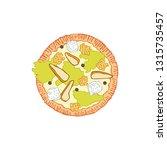 pizza. food cartoon. isolated... | Shutterstock .eps vector #1315735457