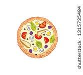 pizza. food cartoon. isolated... | Shutterstock .eps vector #1315735484