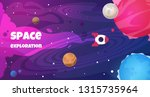 space text background. future... | Shutterstock .eps vector #1315735964