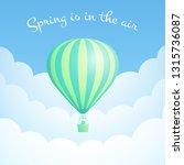 hot air balloon cloud scape... | Shutterstock .eps vector #1315736087